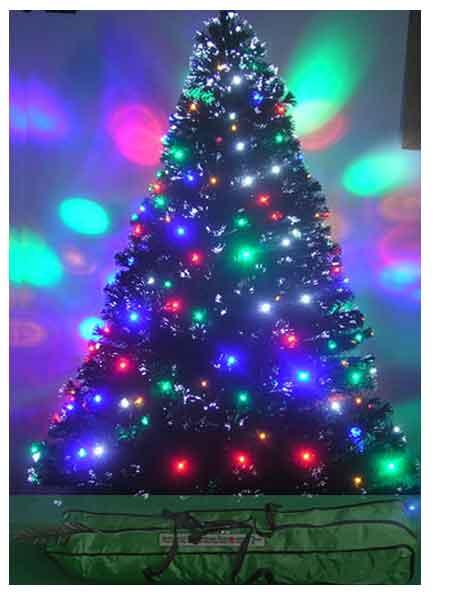 6ft fiber optic Christmas tree pre lit